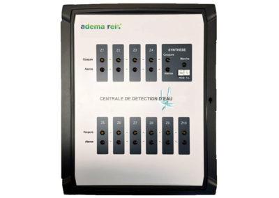 Centrale de détection de présence d'eau multi-zones